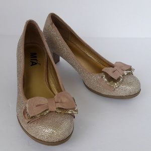 MIA kids sparkly gold shoes